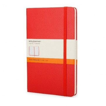 Large Notebook Red Hardcover Gelinieerd | Moleskine