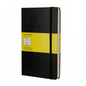 Large Notebook Black Hardcover Geruit | Moleskine