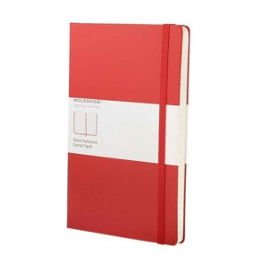 Large Notebook Red Hardcover Blanco | Moleskine