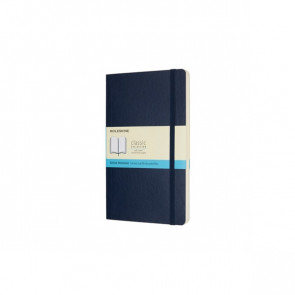 Large Notebook Sapphire Blue Softcover Dotted | Moleskine